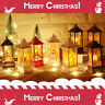 Christmas Tree Hanging Lamp Santa Claus Elk Snowman LED Flame Light Home Decor-W