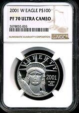 2001-W P$100 Proof Platinum 1 oz American Eagle PF70 Ultra Cameo NGC 2678032-026