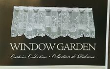 "NEW Heritage LACE Window Garden VALANCE Tier Panel 60"" x 24"" White Flower"