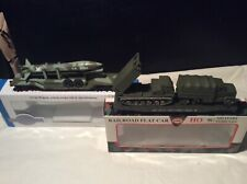 2 HO Military Flat Bed Trains With Missile Troop Carrier And Missile Launcher