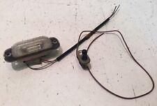 BMW 735i E23 E12 E21 E24 Under Hood Lamp Lens, Switch And Pigtails