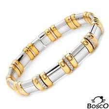 BOSCO GIOVANNI ITALY 18K 2/TONE GOLD BRACELET WITH SUPER CLEAN G/VS DIAMONDS.NEW