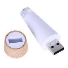 2 x Luce LED Ricaricabile USB Forma Tappo Sughero Decorazione per Vuote Bot G0C5