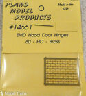 Plano HO #14661 EMD Hood Door Hinges (60) HO Brass Items