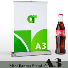 4 Packmini Table Top Retractable Trade Show Display Banner Stand A3 11 X17