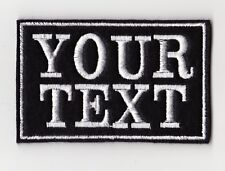 SMALL 2 LINE NAME PERSONALISED BIKER PATCH SEW ON FELT SCOOTER BUY 5 PAY FOR 4!!