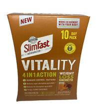 SlimFast Advanced Vitality 4 In 1 Action Weight Loss 30 Sachets 10 Day Pack NEW