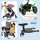 Kids Children Buggy Board Wheeled Pushchair Stroller Step Board Load Up To 55lbs