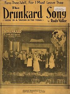 1934 The Drunkard Song-There is a Tavern in the Town by Rudy Vallee-The Drunkard