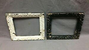 Pair Antique 10x12 Heat Grate Grill Frames Cast Iron Picture Decorative 15-21B