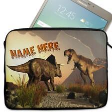 "Personalised Tablet Case DINOSAUR Neoprene Sleeve Cover 7"" 8"" 9"" 10"" SH253"