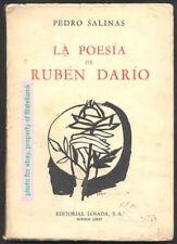 Pedro Salinas Book La Poesia De Ruben Dario 1968