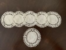 SET OF 6 ANTIQUE NEEDLELACE COASTERS OR COCKTAIL ROUNDS ~BEAUTIFUL~