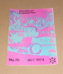 Stockcar Supporter Magazine No.70, October 1974 (Brisca F1/F2)