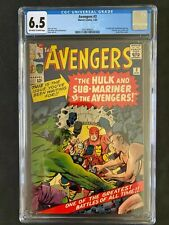 Avengers #3 CGC 6.5 1964 Off-White to White Pages 2042468005 Hulk Sub-mariner