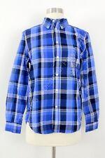 Boy's Polo Ralph Lauren Long Sleeved Blue Plaid Button Up Shirt M 10/12 NWT
