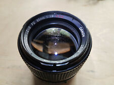 Canon FD 85mm F1.8 SSC Lens