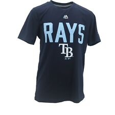 Tampa Bay Rays Official MLB Majestic Kids & Youth Size Athletic T-Shirt New Tags