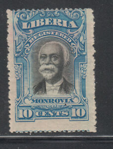 Liberia # F13 COLOR TRIAL in Blue in Perforated 1903 Registration Set