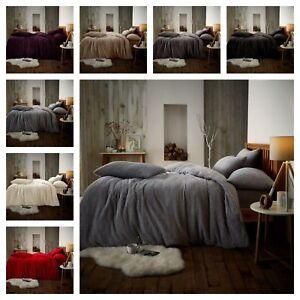 Teddy bear fleece duvet bedding set Lamb Wool Feel Soft,Warm and cosy Range D &K
