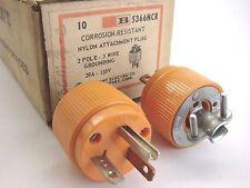 New Lot Of (2) Bryant 5366Ncr 125V/20A Corrosion Resistant Plug Nema 5-20P B359