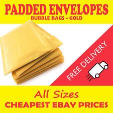 More details for bubble padded mail lite mailer envelopes postal bags gold c0 d1 e2 f3 g4 h5