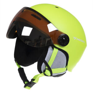 MOON Snowboard Skateboard Skiing Helmet w/ Goggles Integrated Protector 55-61cm
