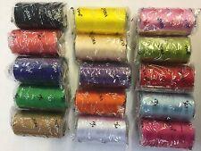 15 VICO FORTE Rayon Seta Macchina Ricamo Filo Forti BOBINE 15 Colori UK