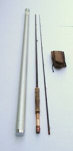 Nice Vintage Abercrombie & Fitch 8' 7 WT 2 PC Fiberglass Fly Rod in Tube #62