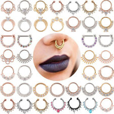 200+ Nose Stud Ring Open Lip Ring Daith Surgical Steel Hoop Piercing Tragus