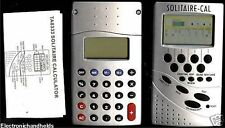 Calculator + Solitarie Electronic Handheld Game 2 in 1