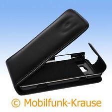 Flip Case Etui Handytasche Tasche Hülle f. Samsung Omnia W (Schwarz)