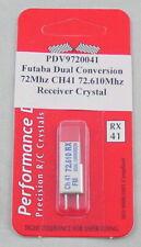 Futaba 72Mhz FM Dual Conversion Receiver Crystal Channel 41 PDV9720041 72.610