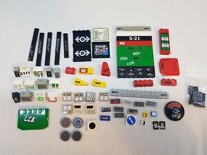 LEGO® Eisenbahn bedruckte Teile bedruckt beklebt sticker print kg Konvolut