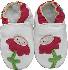 shoeszoo flower white 6-12m S soft sole leather baby shoes