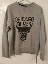 "Chicago Bulls Grey Mens Pullover Jumper Sweatshirt Size Large  23"" Pit to Pit"