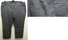 Pantaloni da donna grigia in misto cotone