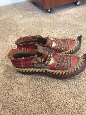 Antique Turkish Native Nepal woven leather shoes Primative for display?