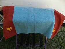 WOVEN  WESTERN SADDLE BLANKET PAD 32 X 16 NO TAGS