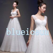 NEW Elegant Empire lace Maternity Wedding Dress&Bridal gowns custom