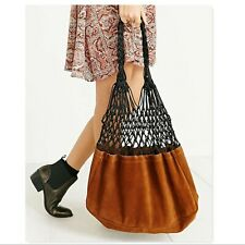 Urban Outfitter Ecote Leather Net Market Tote bag purse suede boho hippie