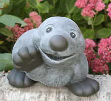 sculpture en pierre taupe Agitant gris ardoise Figurine de jardin décoration