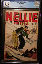 1948 Timely Nellie The Nurse #12 CGC 5.5 Off White to White Pages   Rare