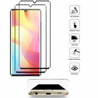 """2x Films Protection Écran Verre Trempé Incurvé NOIR Xiaomi Mi Note 10 Lite 6.47"""""""