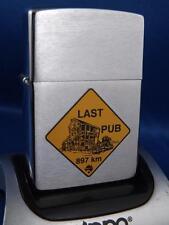 ZIPPO LAST PUB AUSTRALIA ROAD SIGN VINTAGE COLLECTOR LIGHTER UNFIRED RARE