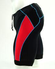 Pearl Izumi Men's Elite Pursuit Tri Cycling Short, Black/True Red, Extra Large