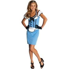 Miss Alice in @ Wonderland Modern Costume Juniors S 3-5 Teen Adult Halloween