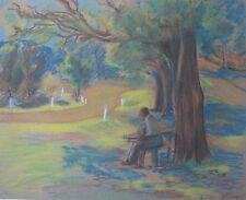 "THEO ENGEL AUSTRALIAN PASTEL ""FIVE WAYS MT DANDENONG SCENE"" 1946"