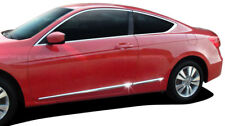 For: HONDA ACCORD 2 DOOR Lower Chromed ABS Accent Body Side Mouldings 2008-2012