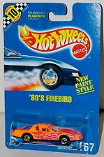 Hot Wheels 80's Firebird Pontiac BW's Blue Card Collector #167 Malaysia 1992